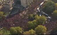 Imagini incredibile! Peste 100.000 de oameni au ieșit în stradă