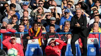 Scene NERVOASE! Mourinho si-a iesit din minti in momentul in care United a fost egalata in minutul 90+6 si a fost placat de stewarzi
