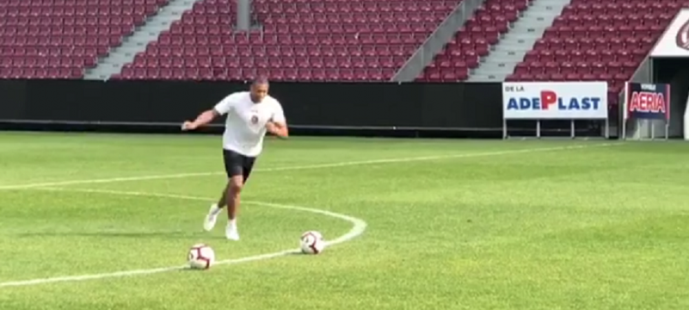 Dani Alves likes this! Baptista, show la antrenamentul CFR-ului: si-a pus mingea la centrul terenului si a tras. Cum s-a dus mingea