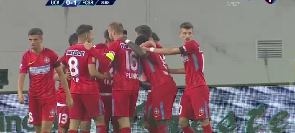 FOTO | FCSB a deschis scorul in minutul 8 la Craiova, cand partida trebuia intrerupta in memoria lui Ilie Balaci. Reactia incredibila a oamenilor din tribune