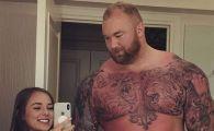 MUNTELE din Game of Thrones s-a insurat! Cum arata femeia care este cu jumatate de metru mai mica decat el! FOTO