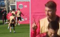 SCANDAL la antrenamentul Realului: Sergio Ramos a RABUFNIT! Ce gest nervos a avut la adresa unui coleg. VIDEO