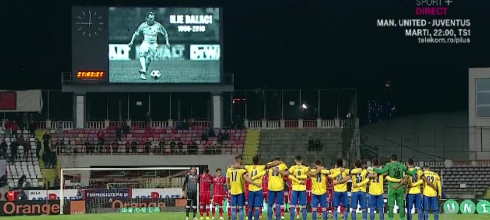 Moment absolut revoltator inainte de Dinamo - Calarasi, in timp ce jucatorii tineau un moment de reculegere dupa moartea lui Ilie Balaci. Ce s-a auzit din peluza