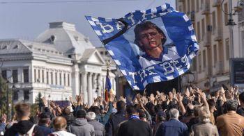 Momente dramatice la inmormantarea lui Ilie Balaci! Mama fostului jucator si-a pierdut cunostinta! FOTO
