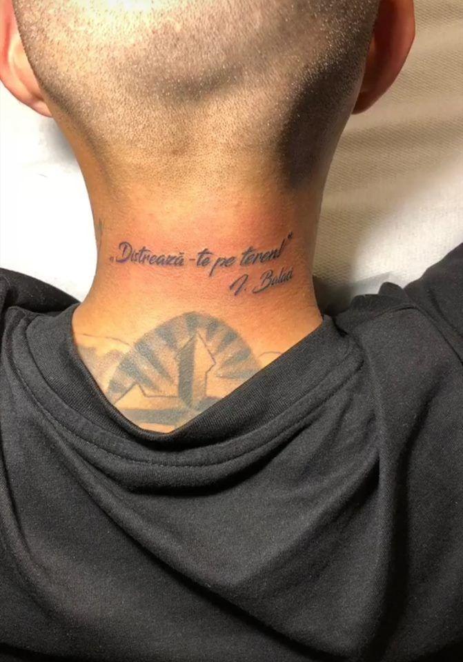 Mitrita s-a dus la salonul de tatuaje si si-a pus pe piele ultimele cuvinte pe care i le-a spus Balaci! Gestul incredibil al vedetei Craiovei