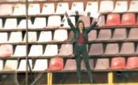 """Rapidista oriunde in lume! A concurat la Eurovision Romania si canta despre echipa de suflet: """"Daca eram baiat, jucam fotbal aici, pe Giulesti"""""""