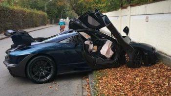 DEZASTRU pentru un sofer: si-a cumparat noul McLaren Senna de 1 milion de euro si l-a facut PRAF in cateva ore. FOTO