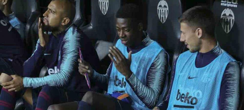 Dembele i-a SCOS DIN MINTI pe jucatorii Barcelonei si pe Valverde! Gestul care l-a trimis pe banca
