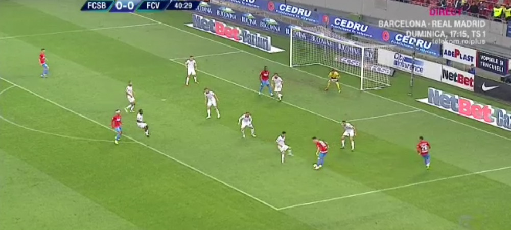 FCSB - VOLUNTARI | Un centimetru in offside! Gnohere a marcat pentru FCSB, arbitrul nu l-a lasat sa se bucure!