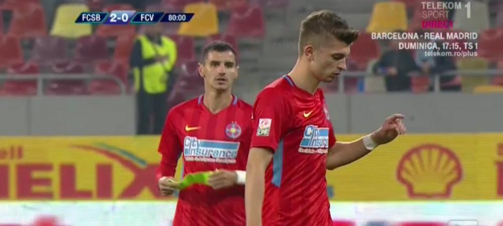FCSB - VOLUNTARI | A FUGIT cu banderola dupa el!!! Momente IREALE pe National Arena. Ce a facut Tanase