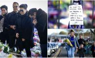"""""""Mister, multumim ca ne-ai invatat sa visam"""". Imagini emotionante la stadionul lui Leicester, unde mii de oameni au depus flori. Familia patronului, primita cu caldura: FOTO"""
