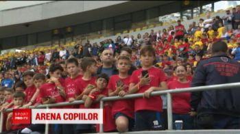 Copiii au invadat Arena Nationala in prima zi de vacanta! Radoi si Bornescu au fost sa-i vada pe micii fotbalisti