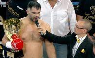 "Victorie rapida pentru Daniel Ghita, la revenirea in ring! TKO in prima runda prin ""specialitatea casei"""
