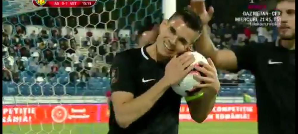 """""""Mingea, da-mi mingea!"""" Cea mai tare BUCURIE la gol de anul asta! Ce a facut Ianis Hagi dupa ce a marcat la Iasi"""