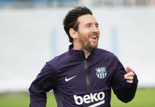 Imagini FABULOASE cu Lionel Messi la antrenamente! A revenit pe teren dupa ce si-a rupt mana | VIDEO