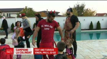 Spiderman, Joker si Diavoul Milanez au iesit la colindat pe strazile din Bucuresti: S-a intamplat azi, de Halloween!