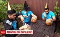Liderii Romaniei la handbal s-au pregatit cum se cuvine de sarbatoarea groazei: Au facut sculpturi in dovleci!