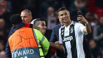 Spectatorul care a intrat pe gazon la Man.United - Juventus avea doua PISTOALE de jucarie la el! Decizia luata imediat de clubul englez