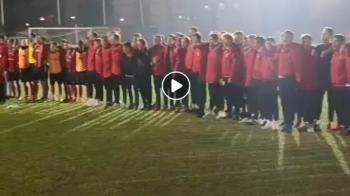 S-au ALINIAT si au inceput cu totii sa cante imnul Tinutului Secuiesc! Scene INCREDIBILE pe stadion dupa victoria istorica in fata lui Dinamo