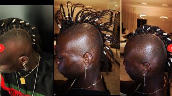 FOTO // Ce e in capul lui Balotelli?! :) Frizura cu care atacantul a facut senzatie pe Instagram