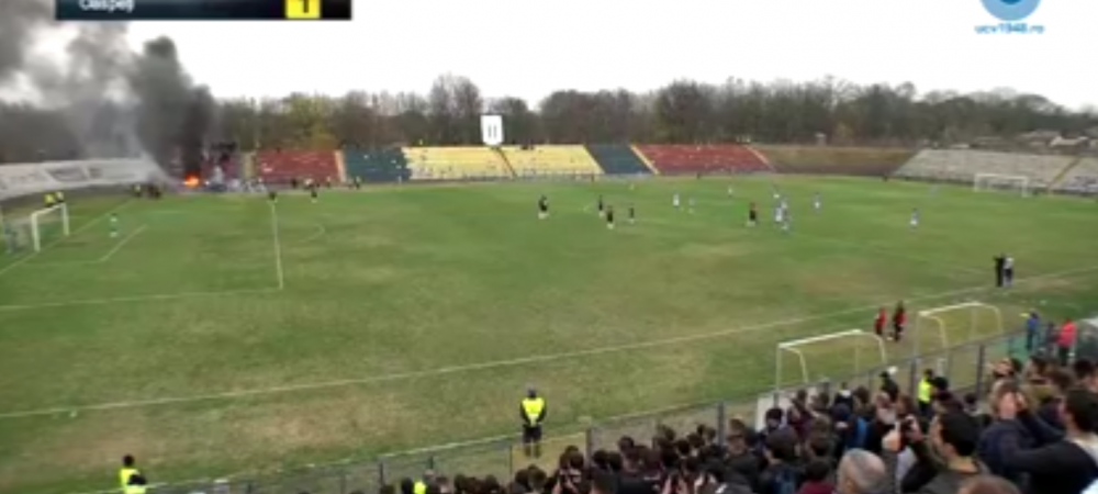 Craiova vs Craiova!!! GOOOOOL FLORIN COSTEAAA! Fanii FCU Craiova au dat foc la stadion. Ce s-a intamplat la derby-ul din C. Imagini incredibile