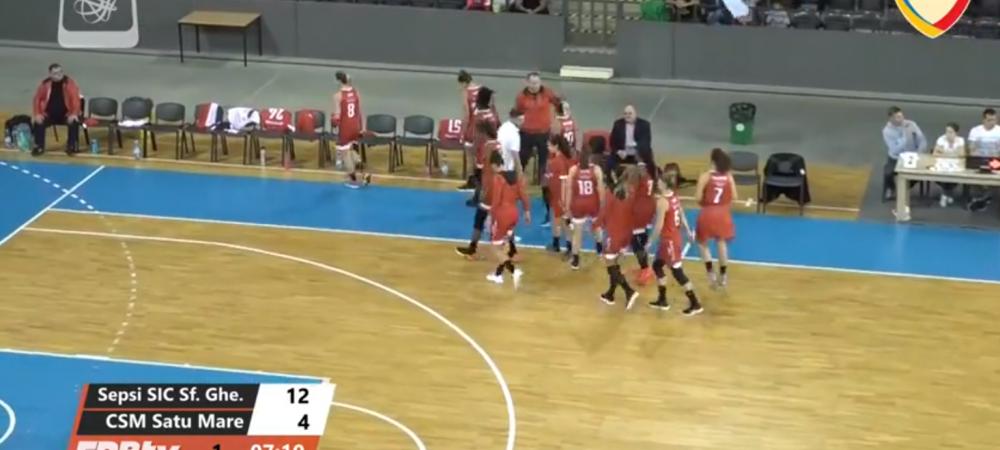 Sepsi Sf Gheorghe 93-54 Municipal Satu Mare, in Liga Nationala de Baschet feminin. Sepsi, 5 victorii din 5