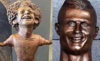 Se bat pentru Balonul de Aur, se bat si pentru cea mai urata statuie :)) Egipteanul Salah, tinta glumelor dupa ce o artista i-a facut bustul