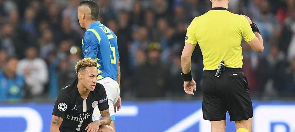 """Neymar a izbucnit dupa egalul cu Napoli! Atac incredibil asupra arbitrului: """"Trebuie sa respecte jucatorii!"""""""