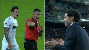 Istvan Kovacs i-a scos din minti pe fanii Valenciei la meciul cu Young Boys! Doua decizii luate in prima repriza au facut ca romanul sa intre in fluieraturi la vestiare