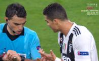 JUVENTUS - MANCHESTER UNITED | Cristiano Ronaldo, enervat de Hategan! Starul portughez i-a cerut imediat explicatii arbitrului roman: ce s-a intamplat