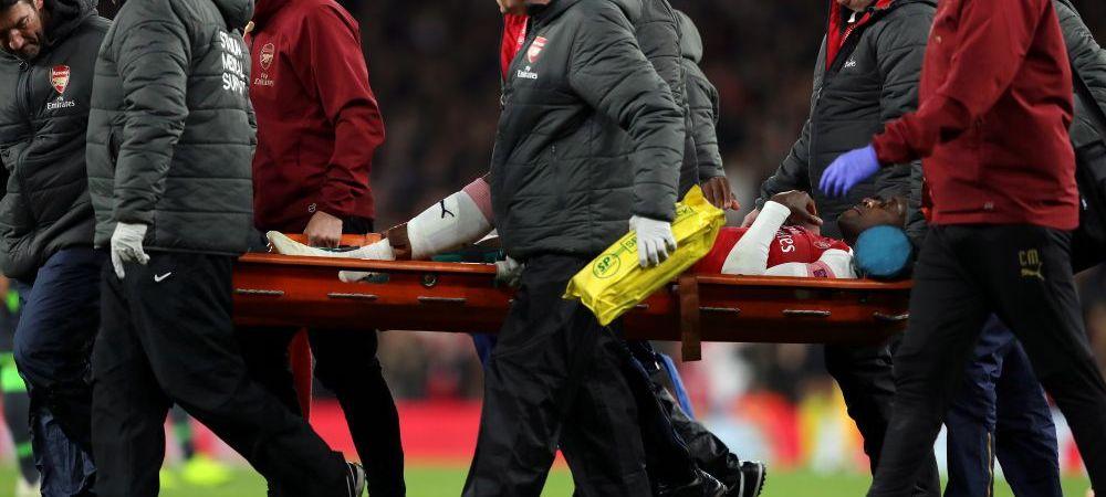 Imagini IMPOSIBIL de privit! Welbeck SI-A RUPT piciorul si rateaza tot sezonul! Reactia de groaza a jucatorilor lui Arsenal cand au vazut accidentarea