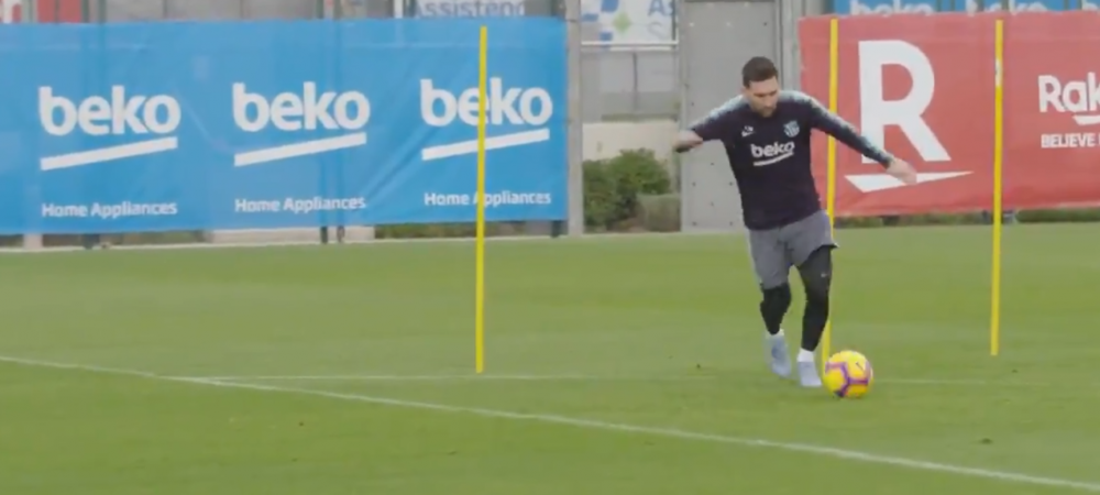 Messi este in forma maxima! L-a umilit pe Ter Stegen la ultimul antrenament inainte de revenirea pe gazon