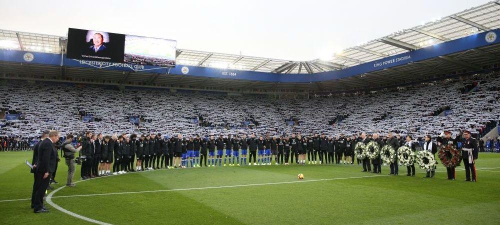 Moment incredibil la Leicester in timpul marsului pentru patronul Vichai Srivaddhanaprabha! Ce a aparut deasupra stadionului: GALERIE FOTO
