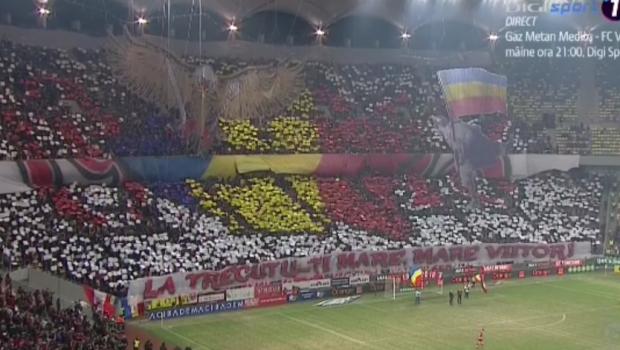 DINAMO - FCSB | Coregrafie 3D SUPERBA a dinamovistilor pentru derby! Ce au afisat suporterii in peluza