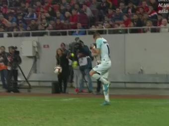 Dinamo - FCSB | O petarda a explodat langa Tanase! Ce reactie a avut stelistul