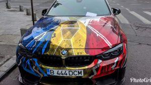 BMW tunat de un roman in onoarea Centenarului. Masina a provocat un val de reactii online. FOTO
