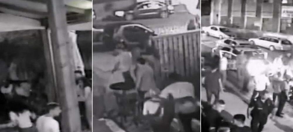 Imagini SOC: a aparut filmarea cu momentul in care interlopul Dasaev ii injunghie pe baschetbalistii americani. VIDEO