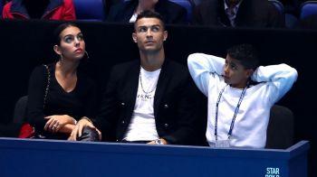 Fotografie senzationala! Ce a facut Ronaldo in momentul in care o minge de tenis s-a indreptat cu viteza catre iubita sa