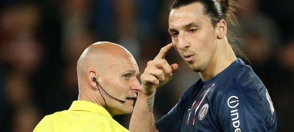 """""""Sunt singurul care a facut asta!"""" Ce a patit arbitrul care a REFUZAT sa-i dea mingea lui Zlatan dupa ce a reusit un hattrick"""