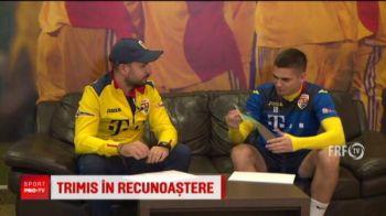Razvan Marin isi recunoaste colegii de la nationala si legat la ochi! A fost provocat inaintea bataliei cu Lituania, care e sambata, de la 21.45, la PRO TV!