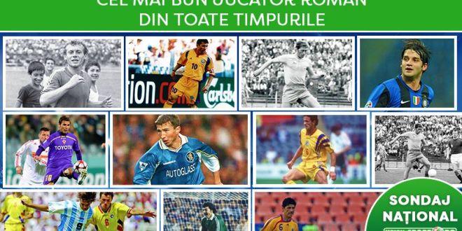 CEL MAI MARE SONDAJ NATIONAL | Hagi, Dobrin, Balaci sau....? AICI VOTEZI cel mai bun jucator roman din prima SUTA de ani de Romania!