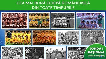 CEL MAI MARE SONDAJ NATIONAL | Generatia de Aur vs Steaua 86 vs Dinamo 90! Care e cea mai buna echipa romaneasca din 100 de ani de Romania? AICI VOTEZI