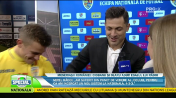"ROMANIA - BELGIA 3-3 | Moment GENIAL cu Radoi in direct la Pro X! Ce i-a facut lui Olaru dupa RACHETA la vinclu: ""Nu cred ca a vrut sa dea acolo!"" :))"