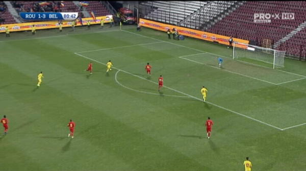 Ocazie mare a lui Darius Olaru in partida cu Belgia