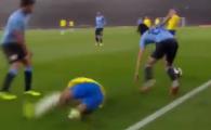 Neymar si Cavani, aproape de bataie in amicalul Brazilia - Uruguay, dupa o intrare dura a celui din urma! VIDEO