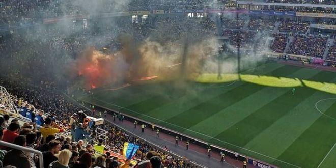 Reactia fanilor Serbiei dupa meciul de pe Arena Nationala! Banner-ul afisat pentru suporterii romani la partida cu Muntenegru | FOTO