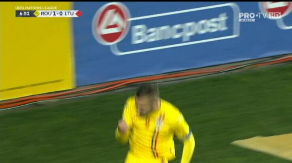 Golul marcat de Puscas (1-0)