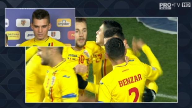 """ROMANIA - LITUANIA   Prima reactie a lui Ianis dupa debutul la nationala: """"Nu ma multumesc cu debutul, vreau sa obtin performante!"""" Ce va face cu tricoul"""