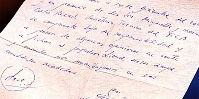 Foto istoric. Ce scria pe primul contract semnat de Messi cu Barcelona, pe o bucata de servetel