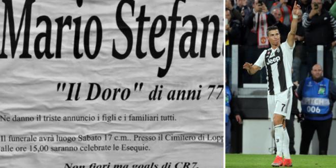 Cu Juventus pana la moarte! Ce bilet a lasat un suporter inainte sa moara:  In loc de flori  FOTO
